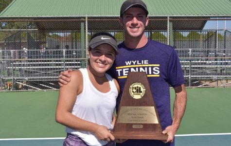 Tennis Mixed Doubles Team Prepares For State