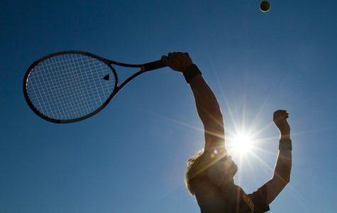 WHS Tennis Team Serving Aces
